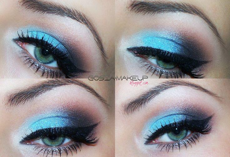 makeup blue & brown