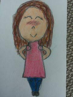 Saskia's knutsel blog: Cute Human Drawing