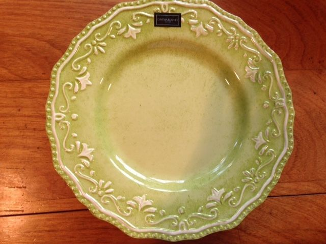 Cynthia Rowley Melamine Dinner Plates Set Of 6 Green