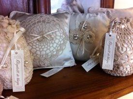 Handmade by Helen crocheted bridal accessories exclusive to Elizabeth de Varga  www.devarga.com.au