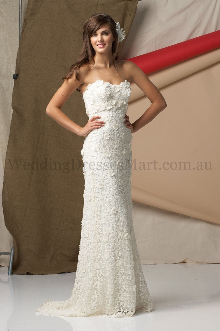 242 best crochet wedding dresses images on pinterest for Crochet lace wedding dress pattern