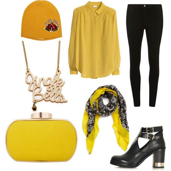 """""""Felis Navidad"""" by workingincloset on Polyvore #style #Yellow #outfit #fashion #look #black #blackandyellow"""