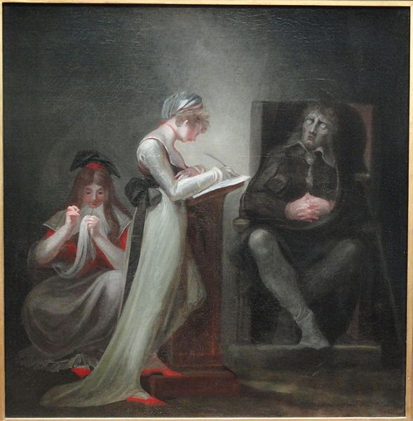 Milton Dictating to His Daughter, 1794, Henry Fuseli