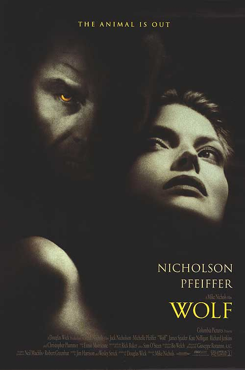 WOLF (1994) - Jack Nicholson - Michelle Pfeiffer - Directed by Mike Nichols - Warner Bros. - Publicity Still.