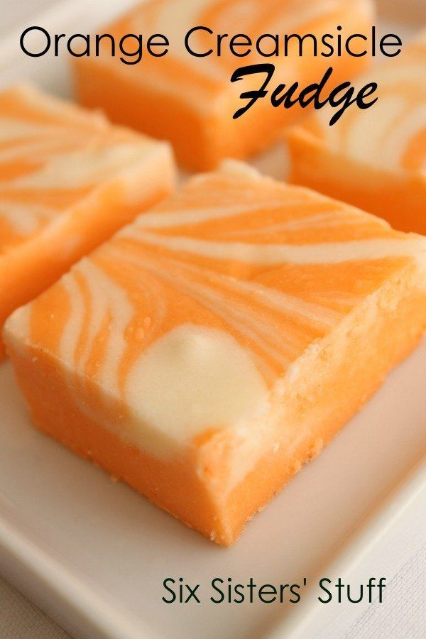 Orange Creamsicle Fudge @FoodBlogs