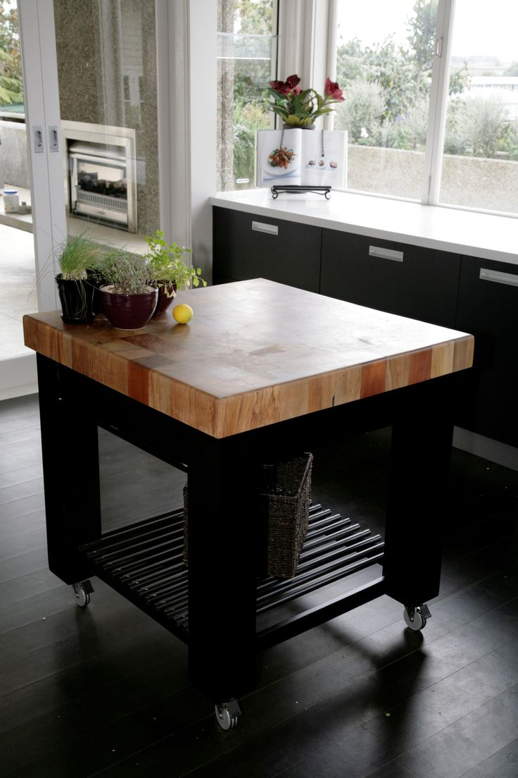 Need extra work space in a small kitchen? A movable work station could be the solution