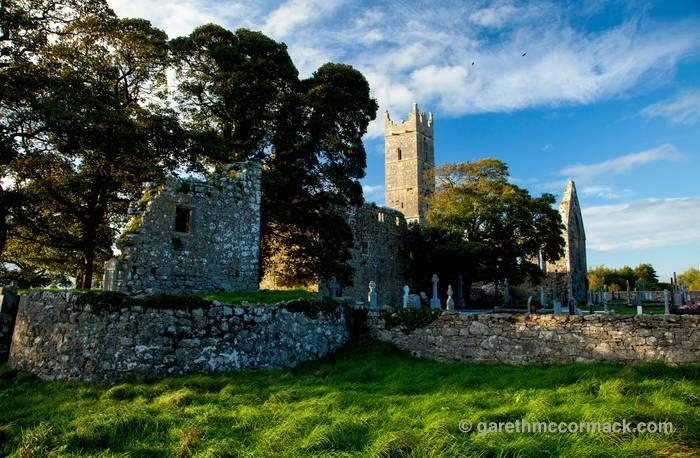 Claregalway Abbey, Claregalway, County Galway, Ireland. Stock Photo