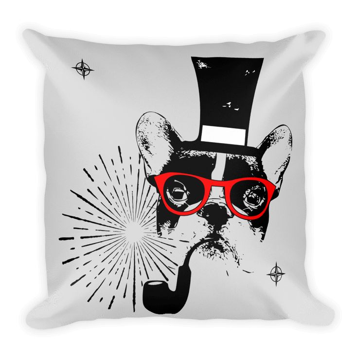 Frenchie Gentleman - Decorative Pillow