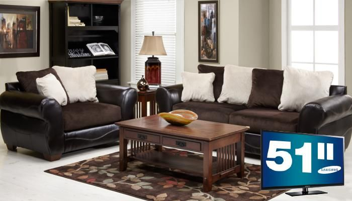 Slumberland Furniture Harrison Collection TV 5 Pc Chocolate Living Room