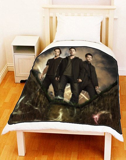 Supernatural Sam Dean Castiel Fleece Blanket Bed Throw Size Medium x Large  x Unique Gift For Christmas. 15 best Supernatural room ideas images on Pinterest   Supernatural