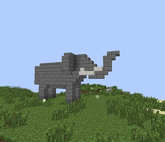 Image result for minecraft elephant build