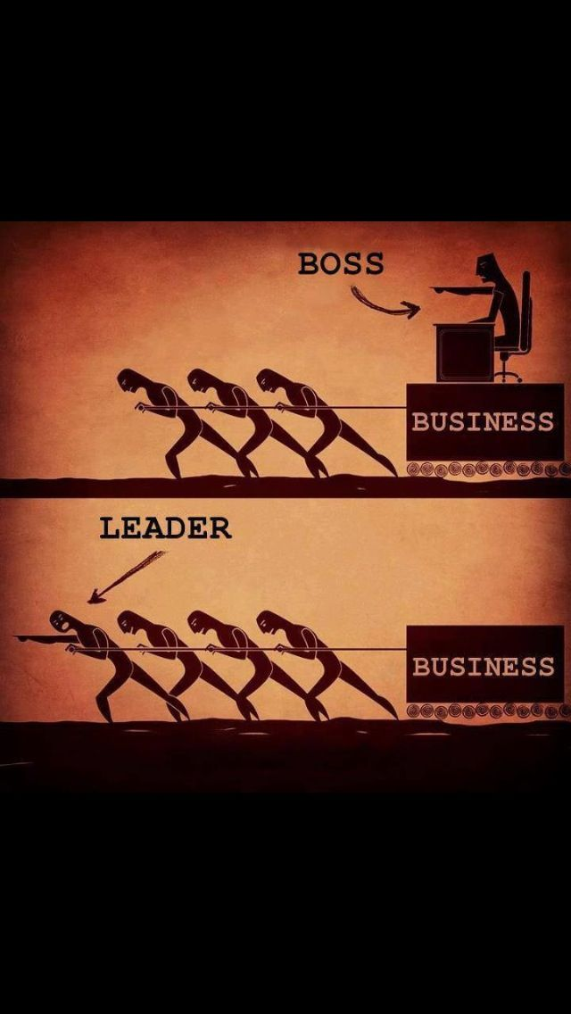 A depiction of the ideal leader. Not one whom sits down and gives commands, but one who takes action and helps as well(This should be posted in all workplaces).