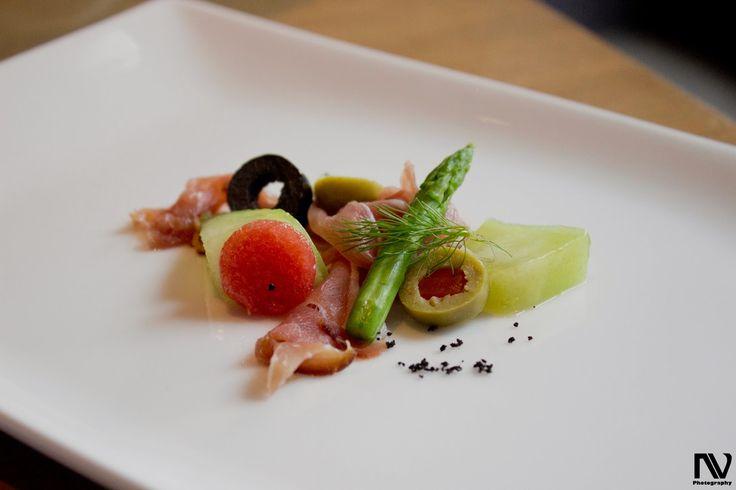 Japanese Melons, German Ham and Wild Arugula