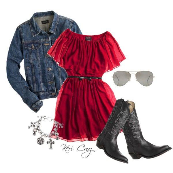 """Little Red Rodeo"" by keri-cruz on Polyvore"
