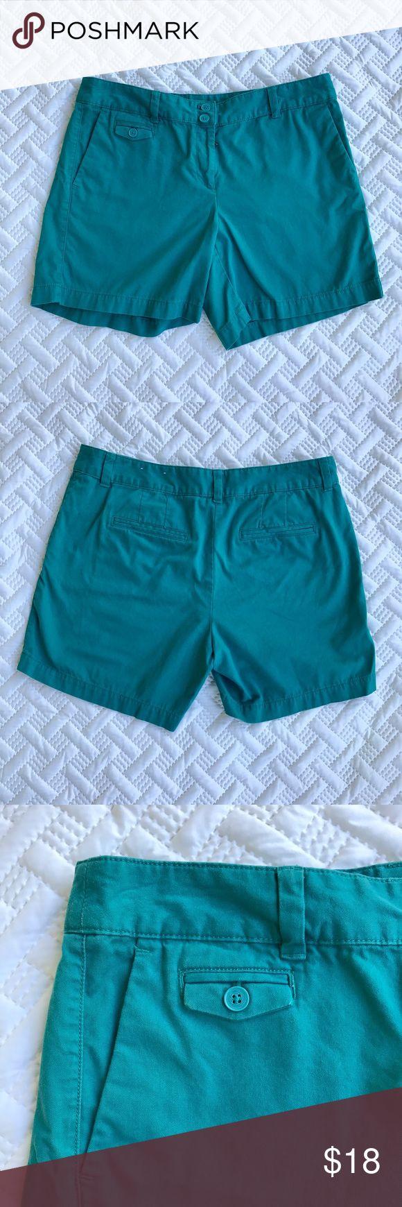 "Teal Shorts 8 Casual Ann Taylor Loft Original Ann Taylor Loft ""Original"" Short   Size 8   Teal / Turquoise color LOFT Shorts"