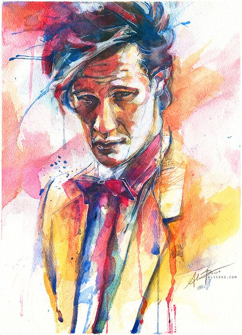 Experimental watercolor portrait of eleven by Alice X. Zhang