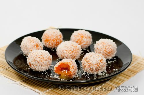 Sweet Potato Glutinous Rice Balls