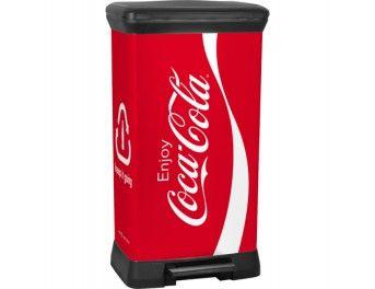 metallic bin  50L Coca-Cola® 39x29xH79 cm www.curver-store.fr