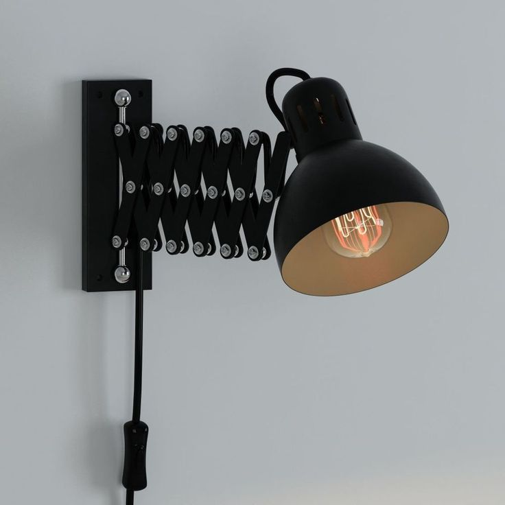 Wall Mount Reading Lamp For Bed Multi-Purpose Swing Arm Extendable Accordian #ArtifactDesign #Accordian