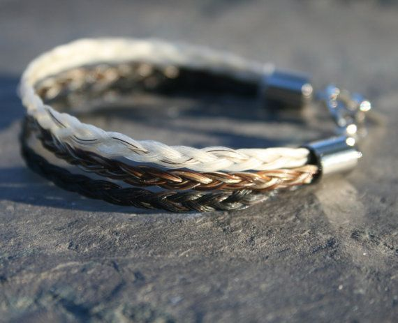 triple braid horsehair bracelet $37 from EquineDreams on etsy