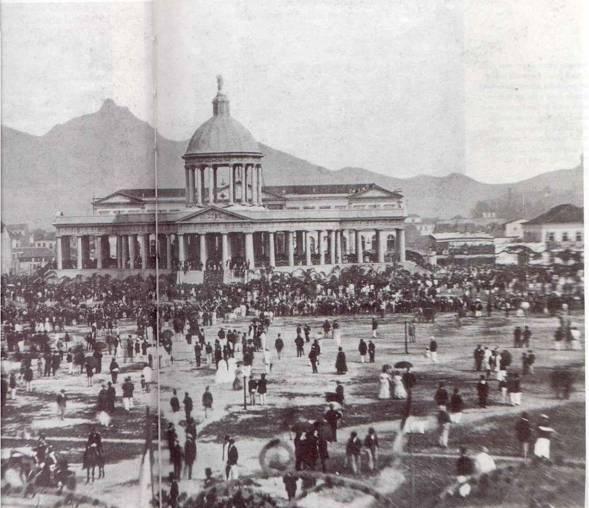 Templo da Vitória - 1870. Construído para celebrar a vitória na guerra do Paraguai. Rio de Janeiro, Campo de Santanna. Derrubado criminosamente pela Velha República.