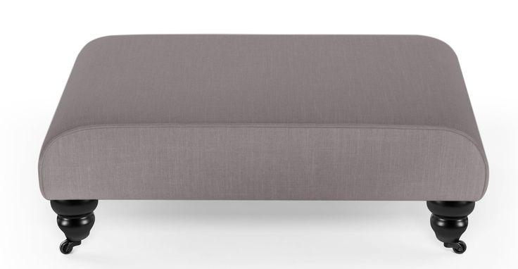 Orson Footstool, Graphite Grey