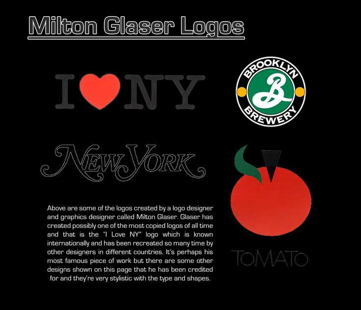 Milton Glaser logos page