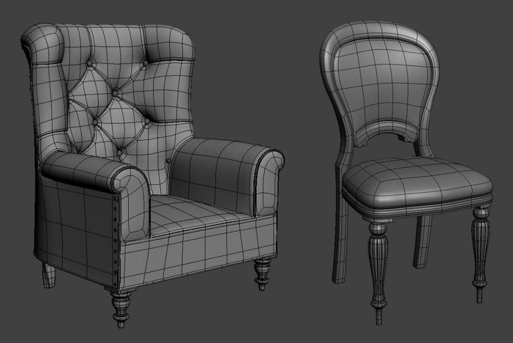 armchair wireframe
