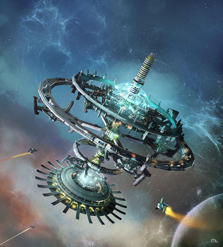 Space Station Concept, Marius Andrei on ArtStation at https://www.artstation.com/artwork/space-station-concept-7f706d95-4026-4b43-8b5b-756c463f04d9
