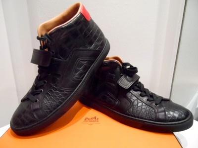 HERMES Schuhe  ORIGINAL in CROCO Schwarz  Gr.44,5- wie neu jetzt 3759.-€ € 3759,00