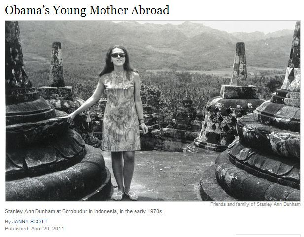 Stanley Ann Dunham at Borobudur in Indonesia early 1970s | Flickr - Photo Sharing!