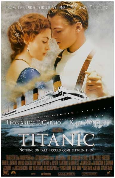 A great movie poster! Nothing could come between Leonardo DiCaprio and Kate Winslet in Titanic, James Cameron's epic 1997 love story! Winner of 11 Oscars! Ships fast. 11x17 inches. Check out the rest