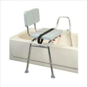 Bundle-42 Transfer Bench with Padded Seat and Back (5 Pieces) Size: Regular by Eagle Health. $295.00. [***INCLUDED IN THIS SET: (1)Transfer Bench with Padded Seat / Back, (4)XX-Tall Transfer Bench Leg Set (For Series 37)] Size: Regular Features: -Transfer Bench with Padded Seat / Back.-Seat glides over polished, high-strength aluminum tubes.-Padded seat and back.-Heat-sealed upholstery resists moisture penetration.-Height adjusts to fit user and tub wall clearance.-Strong su...