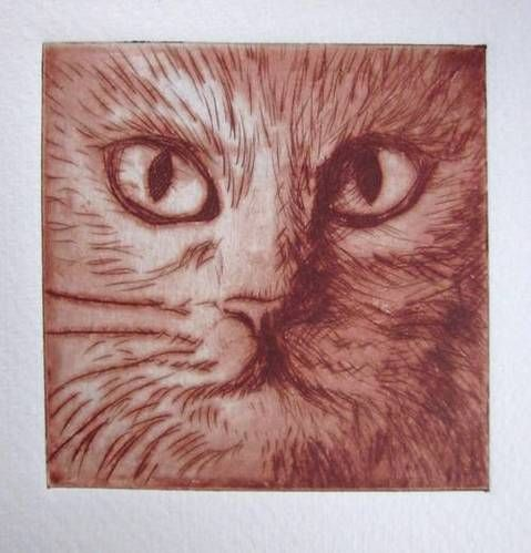 Cat etching - MORE ART, LESS CRAFT