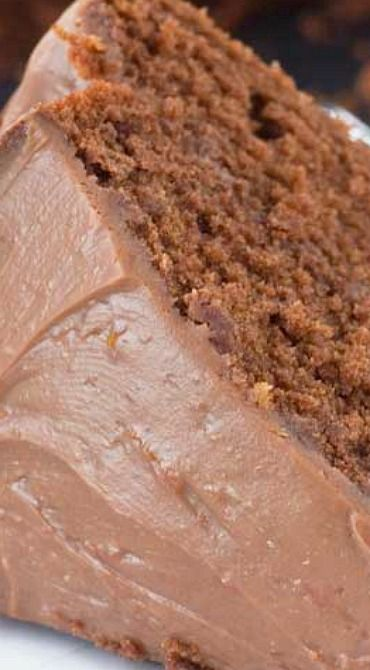Double layer chocolate orange cake