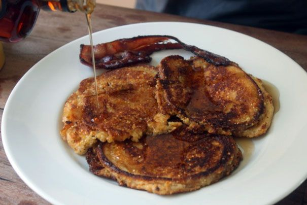 Buttermilk Cornmeal Pancakes.