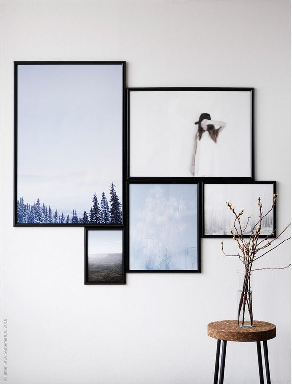 Cuadros Grandes De Ikea.Decorando Con Cuadros Y Laminas Gallery Wall Hanging Art Frames