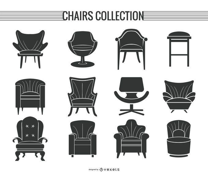Chair And Sofa Silhouette Set Ad Ad Sponsored Sofa Silhouette Set Chair In 2020 Silhouette Background Design Shirt Maker