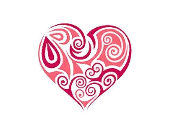 Heart  Cross stitch pattern bead weaving pattern by evascreation