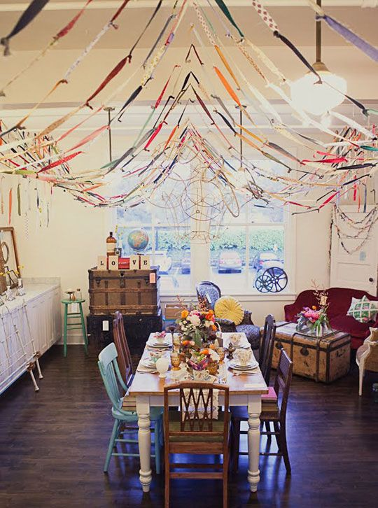 party streamers: Party Time, Parties, Fabric Streamers, Fabric Strip, Scrap Fabric, Fabrics, Fabric Scraps, Party Ideas, Scrap Streamers