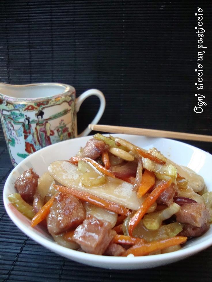 gnocchi di riso homemade come al ristorante cinese -  Rice dumplings, homemade, like the Chinese restaurant