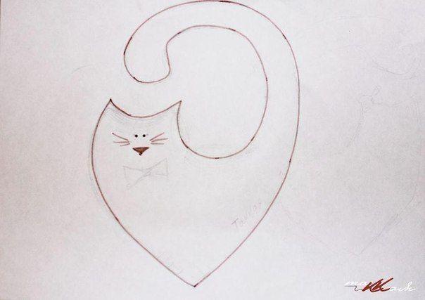 Como fazer almofada de gato - Almofada de gatinho Molde