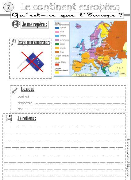 traces écrites géographie (population française, continent européen et union européenne)