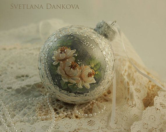 Christmas Ornament Hand Painted by LaivaArt on Etsy, $35.00
