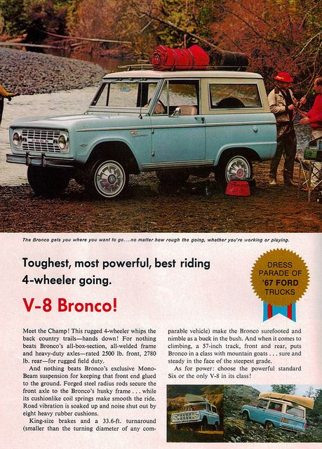Classic bronco ad