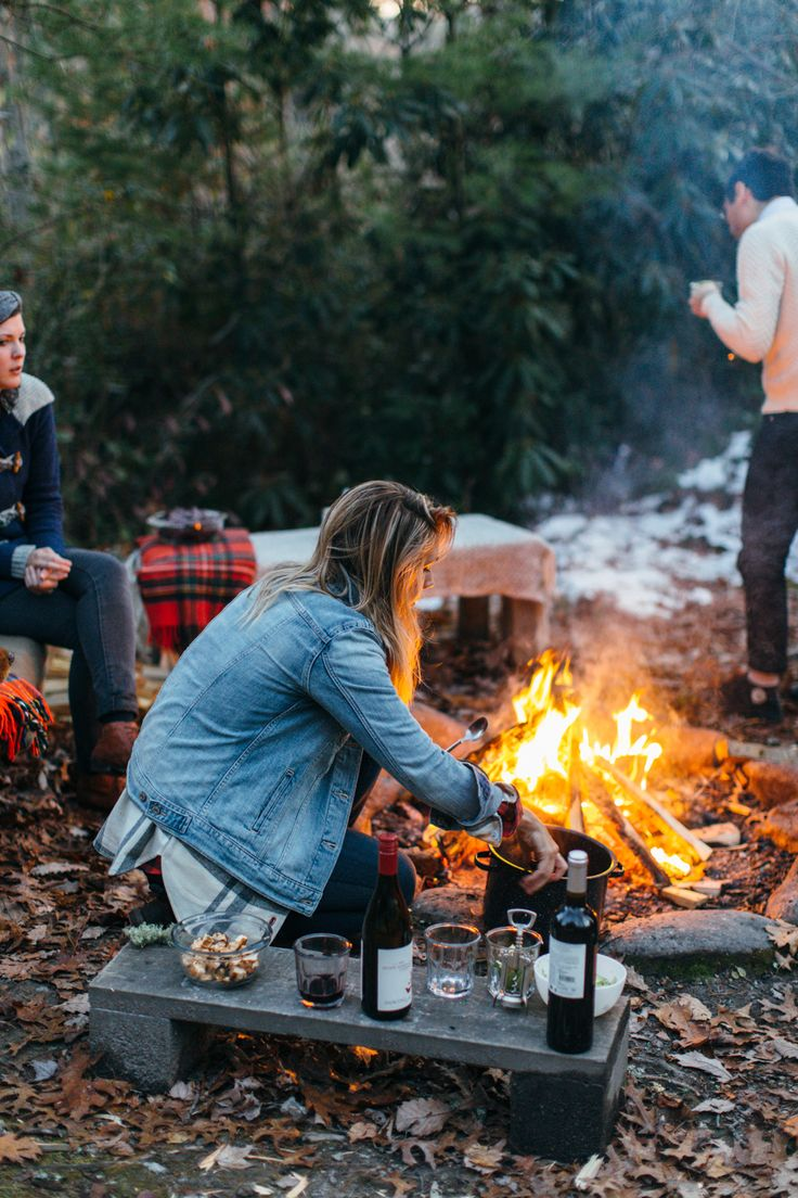 Camp fire things.  To do: make it cozier/prettier/easier. A tray, a new tablecloth, good dish soap, flannel blankets -