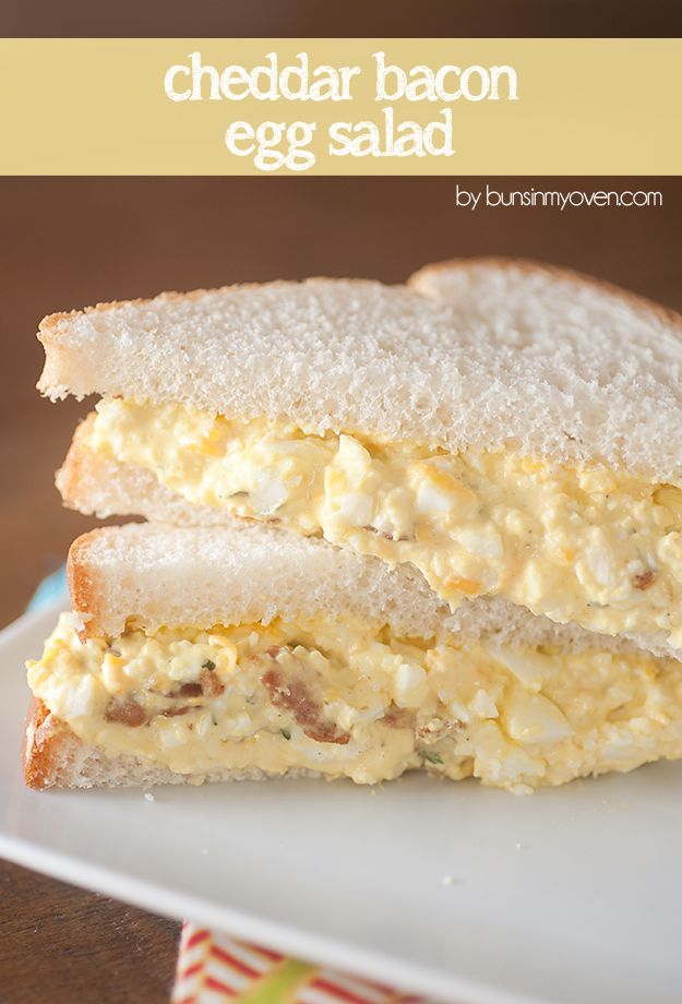 Cheddar Bacon Egg Salad - Buns In My Oven