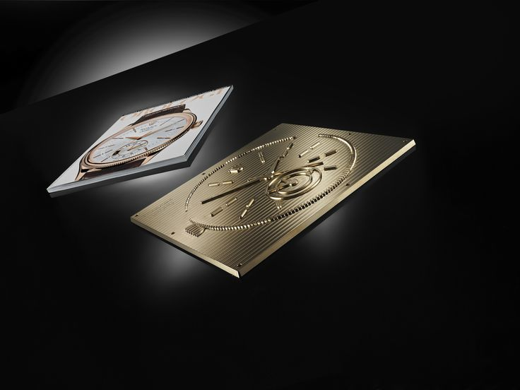 Orologi main cover and Clichè used to apply embossing and debossing on it. The decoration of the cover was completed by applying foil with cold stamping technology.