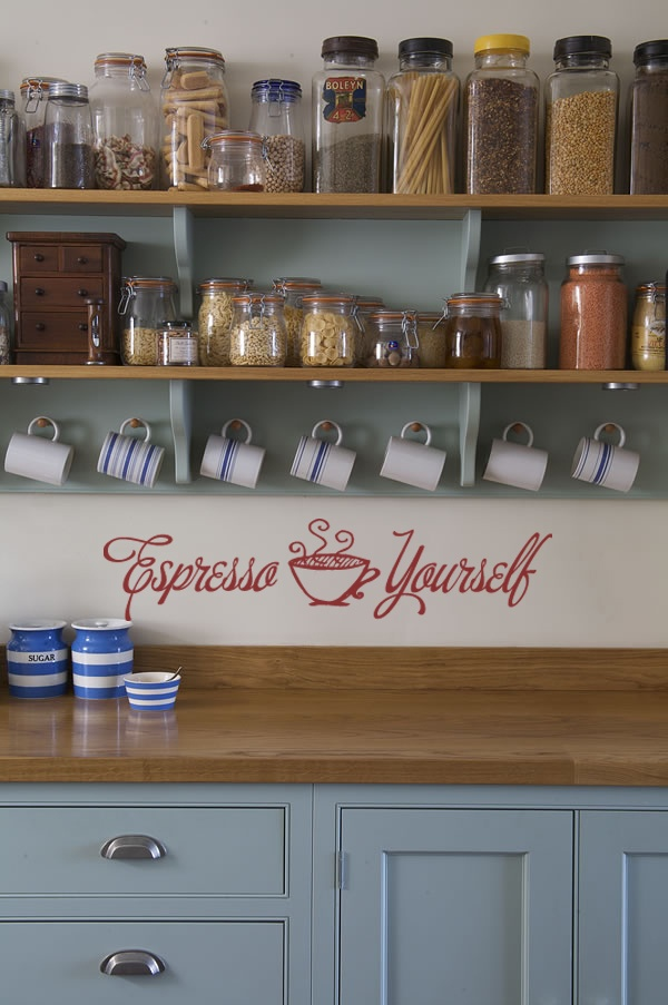 Espresso Yourself kitchen wall decor coffee cup vinyl lettering cafe