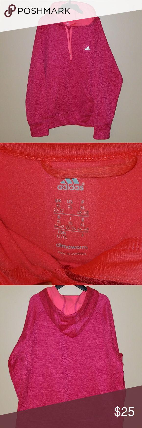 ADIDAS PINK HOODIE  NWOT NWOT women pink ADIDAS hoodie. Size xl adidas Tops Sweatshirts & Hoodies